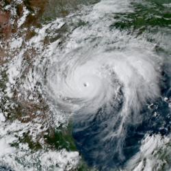 Ouragan Harvey - Golfe du Mexique aout 2017